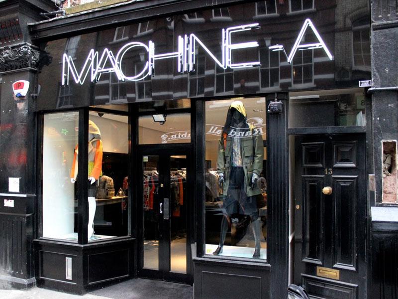 MACHINE-A storefront (via The Lounge Soho)