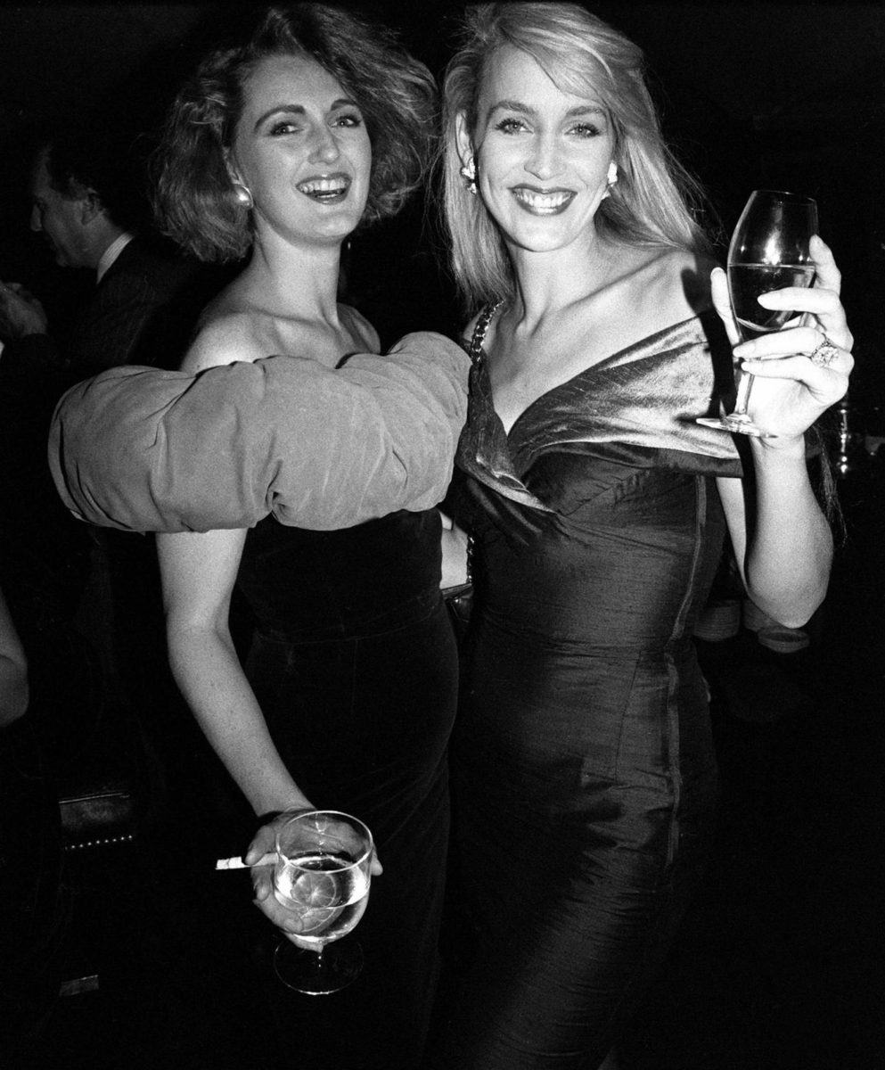 Jerry Hall and Francesca von Thyssen at Annabel's