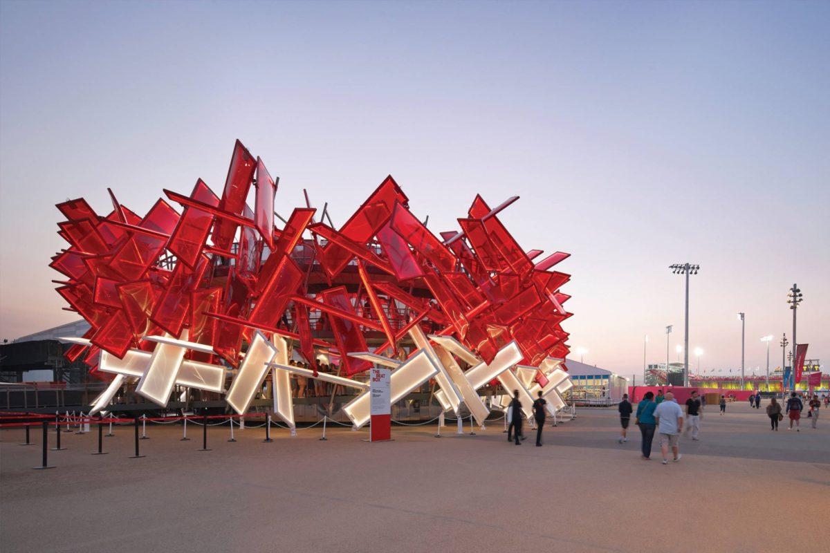 Coca-Cola Beatbox Pavilion, 2012 (via Asif Khan)