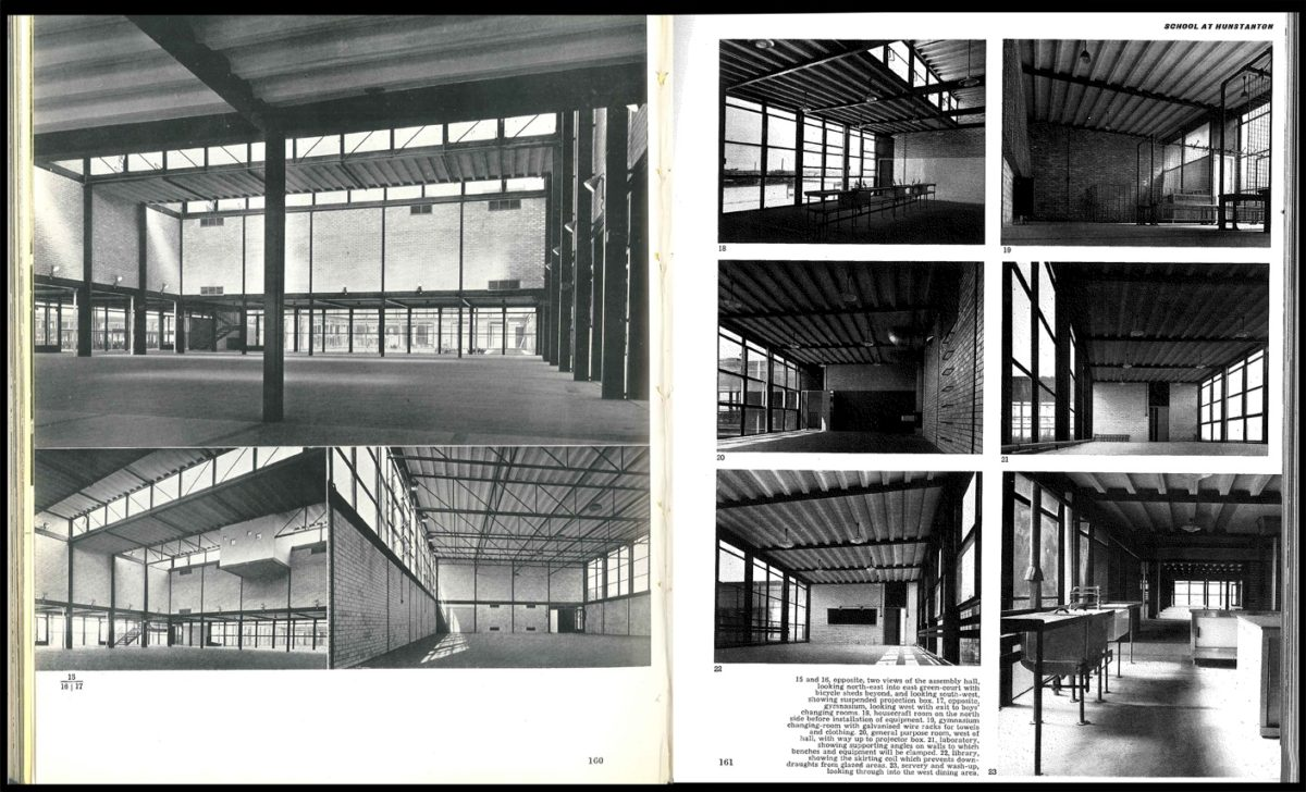 Alison and Peter Smithson's School at Hunstanton, Norfolk (from Architectural Review, 1954)