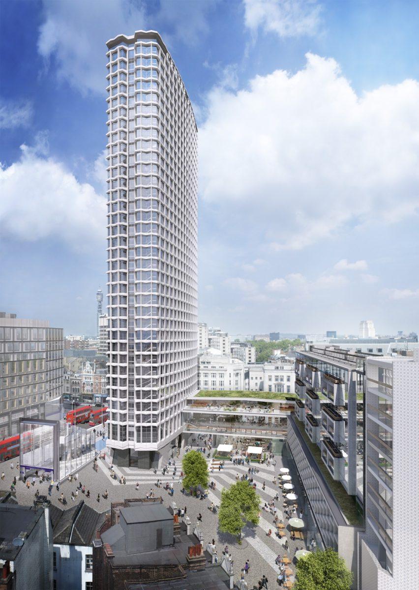 Conran & Partners' rendering of Centre Point (via Conran & Partners)
