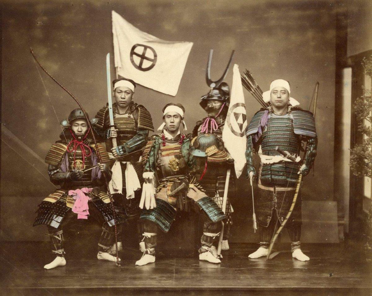 Felice Beato, Samurai, 1865 (Via Photofair)