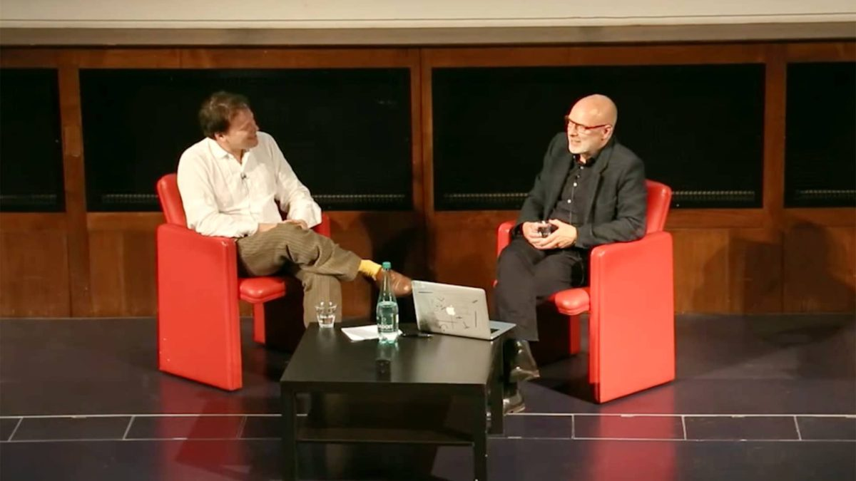 Longplayer Conversation - David Graeber and Brian Eno, 2014