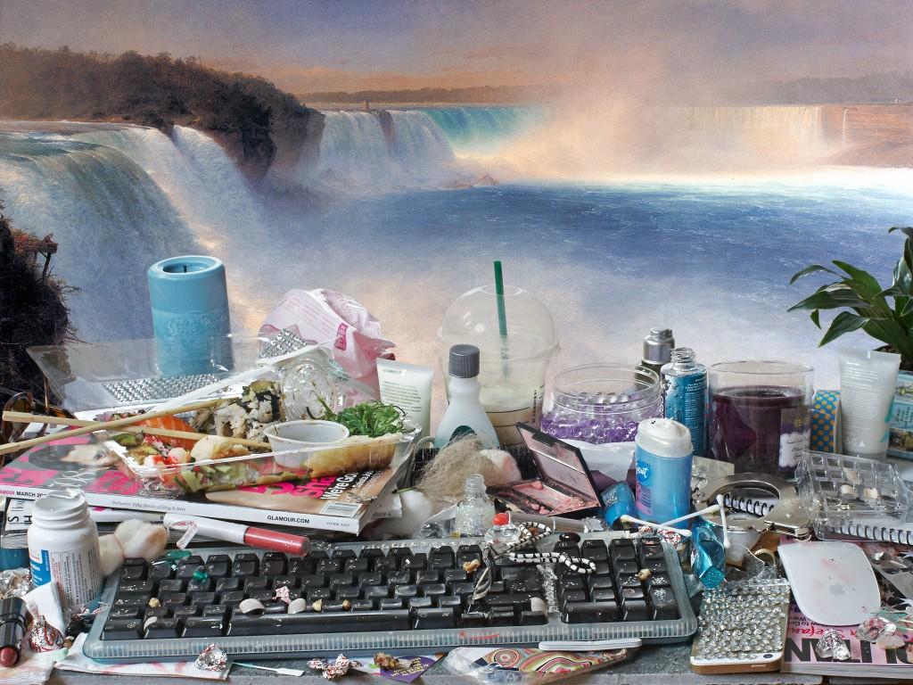 Jon Rafman, You Are Standing in an Open Field (Waterfall), 2015 (via Musée d'art contemporain de Montréal)