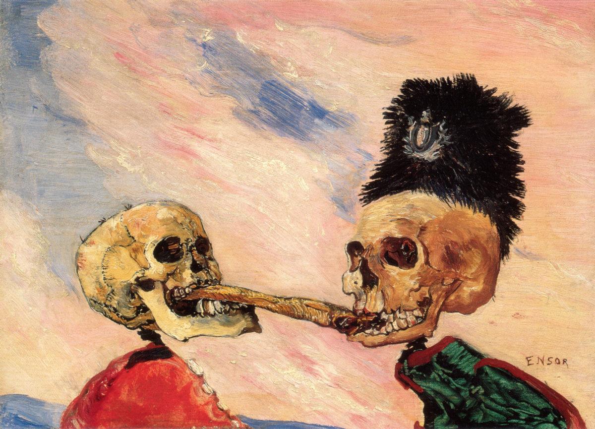 James Ensor, Fighting Over a Pickled Herring (Via ThirdDime)