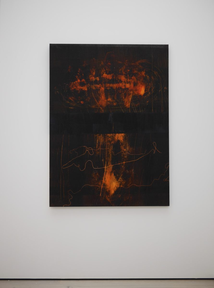 Untitled, Monotype on Canvas, Saatchi Gallery (Courtesy of Nicole Coson)