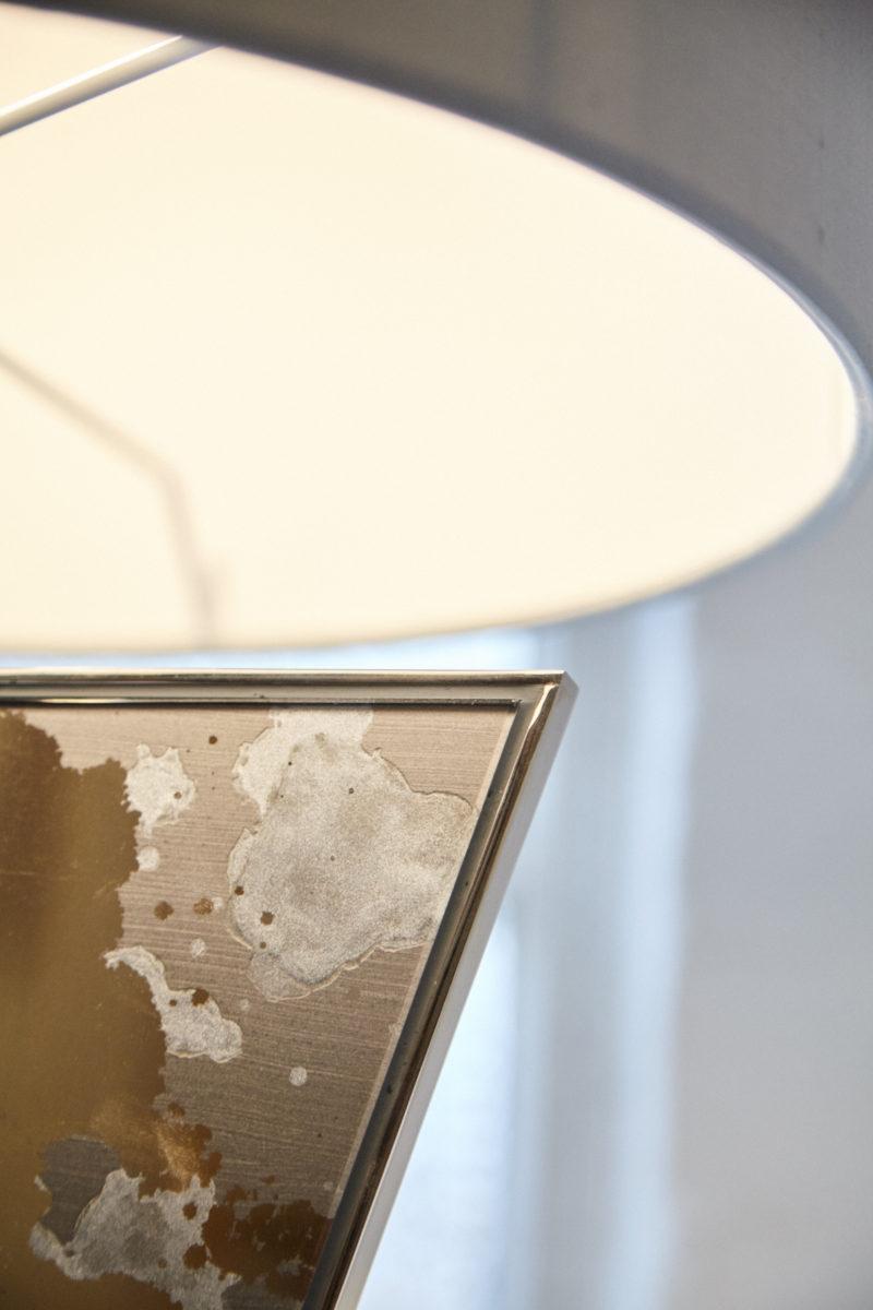 Apex table lamp in Lunar Lit verre églomisé