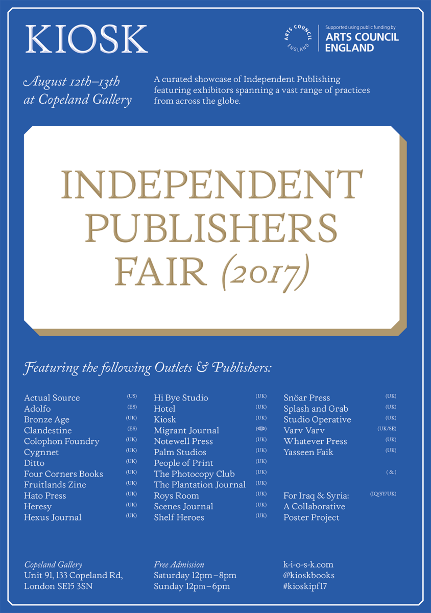 Independent Publishers Group: Kiosk's Nick Greenbank On His Favourite Titles At The